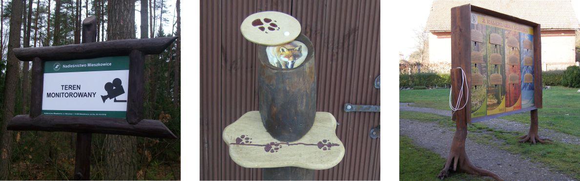 atchitektura-drewniana-tablice-przyrzady-tropy-praca-lesnika-lesne